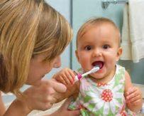 L'igiene orale dei bambini.
